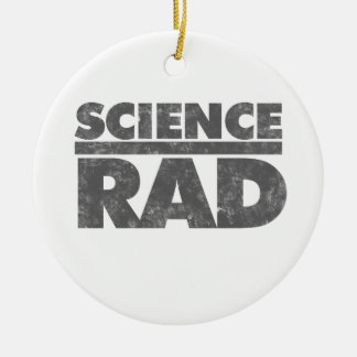 Science Rad! Double-Sided Ceramic Round Christmas Ornament