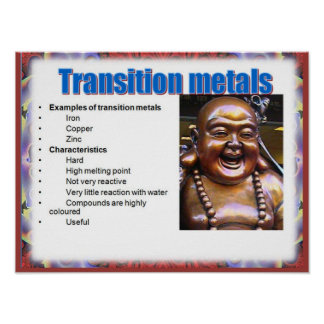 Science, Reactivity, Transition metals Poster