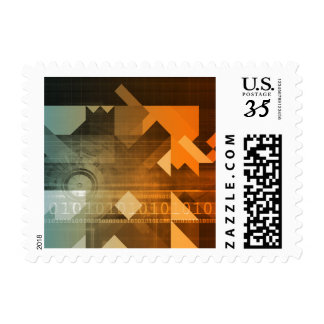 Science Research as a Concept for Presentation Postage Stamps