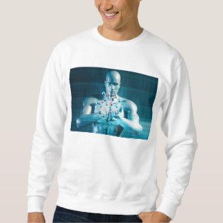 Science Research as a Molecule Concept Sweatshirt