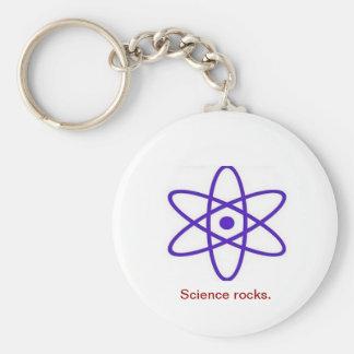 Science rocks keychain
