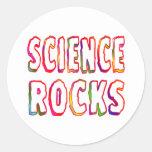 Science Rocks Round Stickers