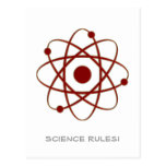 Science Rules! - Atom (005a) Postcard