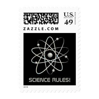SCIENCE RULES! Atom (007) | Geek Postage