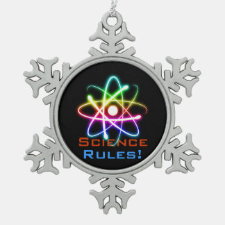 Science Rules! - Atom Christmas Ornament