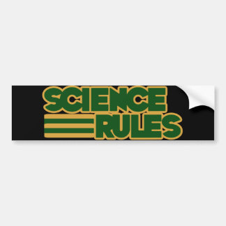 Science Rules Bumper Sticker