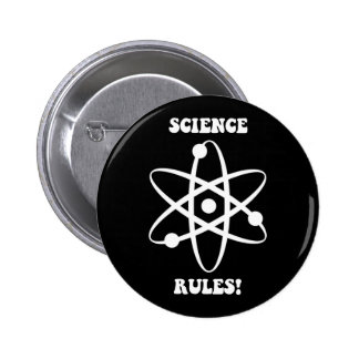 science rules pinback buttons