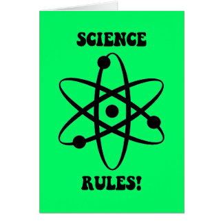 science rules greeting card