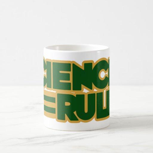 Science Rules Classic White Coffee Mug