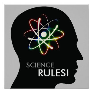 SCIENCE RULES! | Geek Gifts Poster