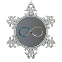 Science Rules | Geek Gifts Snowflake Pewter Christmas Ornament