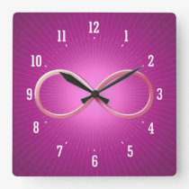 Science Rules   Geek Gifts Square Wall Clock