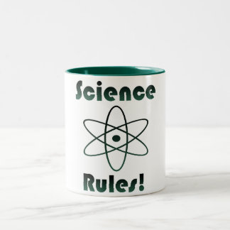 Science Rules Geek Two-Tone Coffee Mug