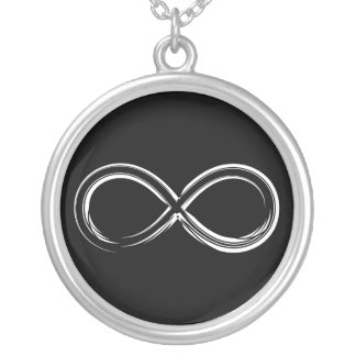 Science Rules | Infinity Geek Gifts Silver Plated Necklace