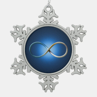 Science Rules   Infinity Geek Gifts Snowflake Pewter Christmas Ornament