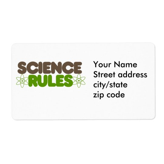 Science Rules Label