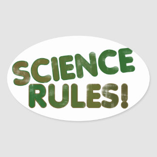 Science Rules Oval Sticker