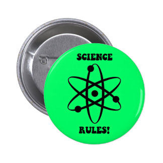 science rules pinback button