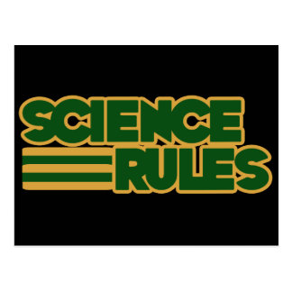 Science Rules Post Card