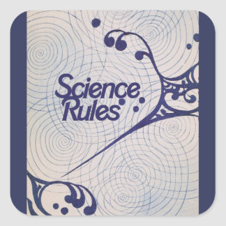 Science Rules Square Sticker
