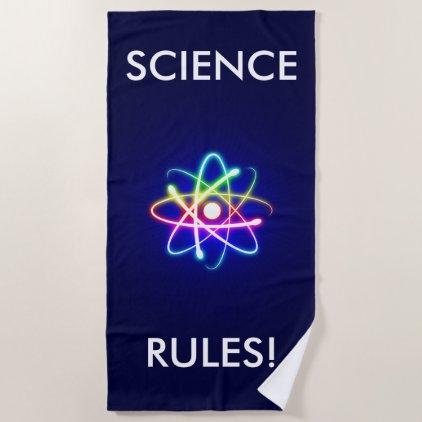 SCIENCE RULES | Unique Beach Towel