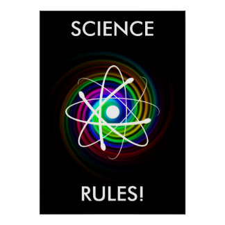 SCIENCE RULES! - unique Poster