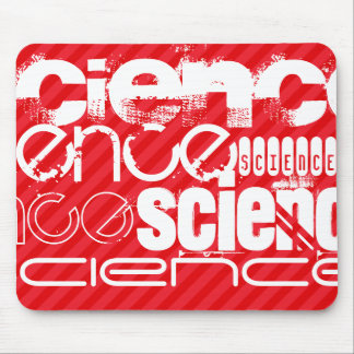Science; Scarlet Red Stripes Mouse Pad