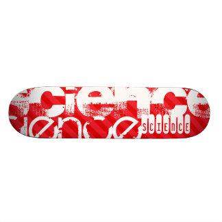 Science; Scarlet Red Stripes Skateboard