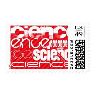 Science; Scarlet Red Stripes Stamp
