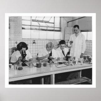 Science - Scientist - Vintage Poster