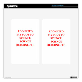 SCIENCE SKINS FOR KINDLE FIRE
