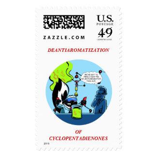 Science Skunk Postage Stamps