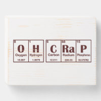 Science Speaks Wooden Box Sign