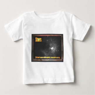 Science, Stars are light sources Baby T-Shirt