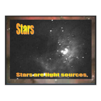Science,  Stars are light sources Postcard