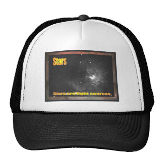 Science, Stars are light sources Trucker Hat