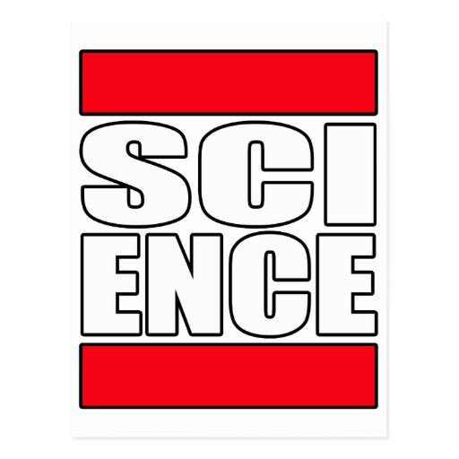 Science t shirt postcards