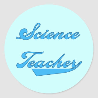 Science Teacher Blue Tshirts and Gifts Classic Round Sticker