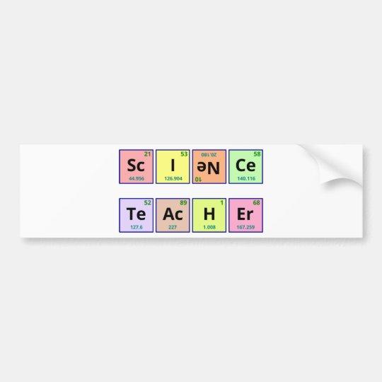 Science Teacher Bumper Sticker