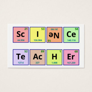 Science teacher business card