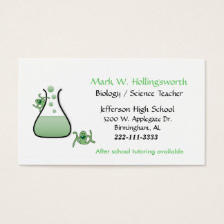 Science Teacher Business Cards Templates Zazzle