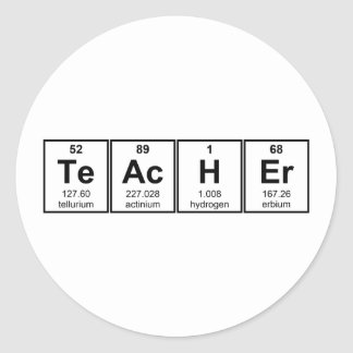 Science Teacher Chemical Elements Classic Round Sticker