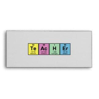 Science Teacher Chemical Elements Envelope