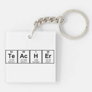 Science Teacher Chemical Elements Keychain