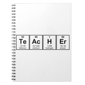 Science Teacher Chemical Elements Notebook