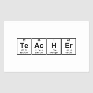 Science Teacher Chemical Elements Rectangular Stickers