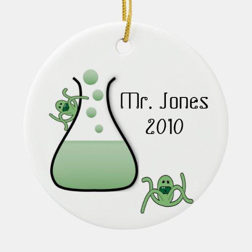 Science teacher christmas ornament zazzle