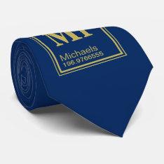 Science Teacher Custom Name Periodic Table Navy Neck Tie at Zazzle