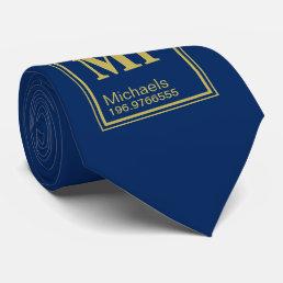 Science Teacher Custom Name Periodic Table Navy Neck Tie
