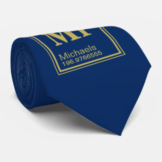 Science Teacher Custom Name Periodic Table Navy Neck Tie